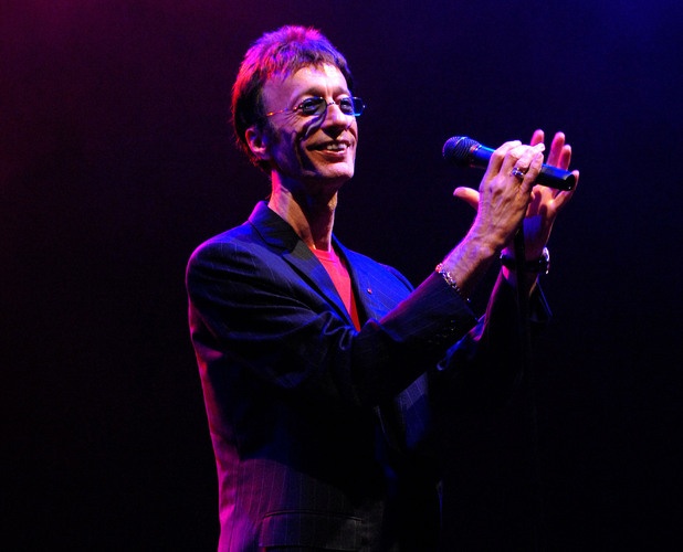 Robin Gibb performs at the Dubai International Jazz Festival
