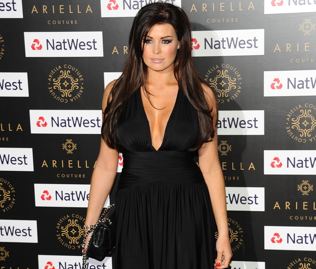 Jessica Wright at the Ariella Couture Catwalk Show, London
