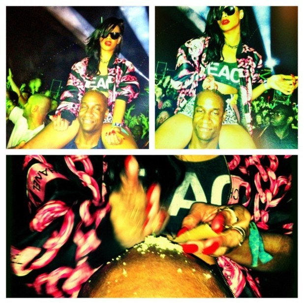 Rihanna posts picture of herself partying at Coachella