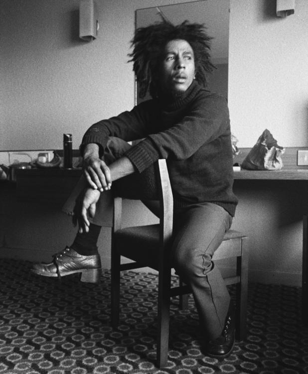 Bob Marley poses