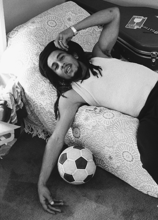 Bob with his other great love - football