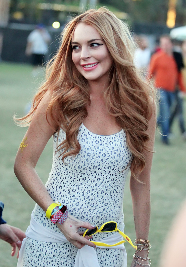 Lindsay Lohan Celebrities at the 2012 Coachella Valley Music and Arts Festival - Week 1 Day 3 Los Angeles, California