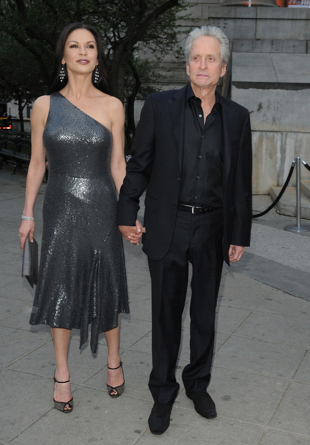 Michael Douglas and Catherine Zeta Jones 2012 Tribeca Film Festival Vanity Fair party at the State Supreme Courthouse New York City