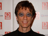 Robin Gibb displays displays the Lifetime Achievement Award recognising the contribution of the Bee Gees during the annual Q Awards 2005