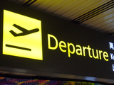 Airport 'departures' sign