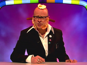 Programme host Harry Hill is seen with food all over his head on &#39; Harry Hill&#39;s TV Burp &#39;. Shown on ITV1.