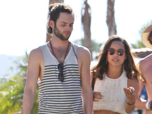 Zoe Kravitz and Penn Badgley Celebrities at the 2012 Coachella Valley Music and Arts Festival - Week 2 Day 3 Indio, California