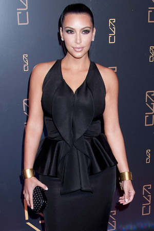 Kim Kardashian at the RYU Restaurant Grand Opening.