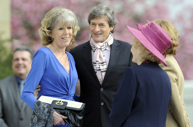 Coronation Street - Rita's Wedding; On-set pictures - Sue Roberts and Nigel Havers