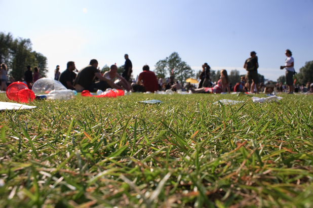 Generic summer festival image - people lying in grass