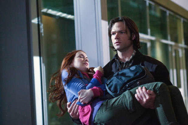 Felicia Day as Charlie Bradbury, Jared Padalecki as Sam