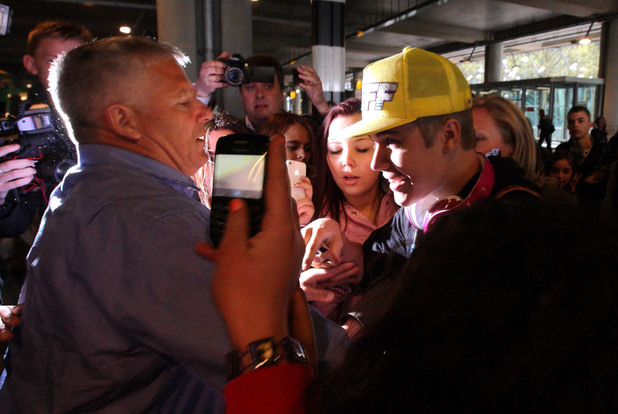 Justin Bieber arrives at London's Heathrow Airport