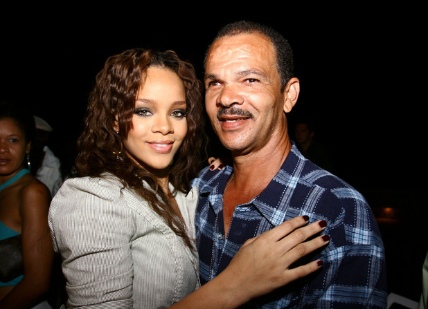 Rihanna and father Roger Fenty
