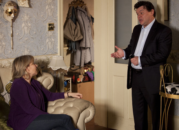 Derek tells Carol about the house he has found them in Suffolk.