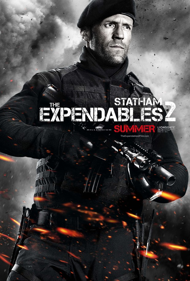 Jason Statham Expendables 2 character poster