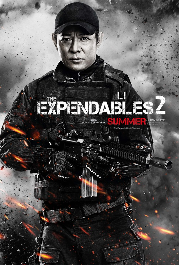 Jet Li Expendables 2 character poster