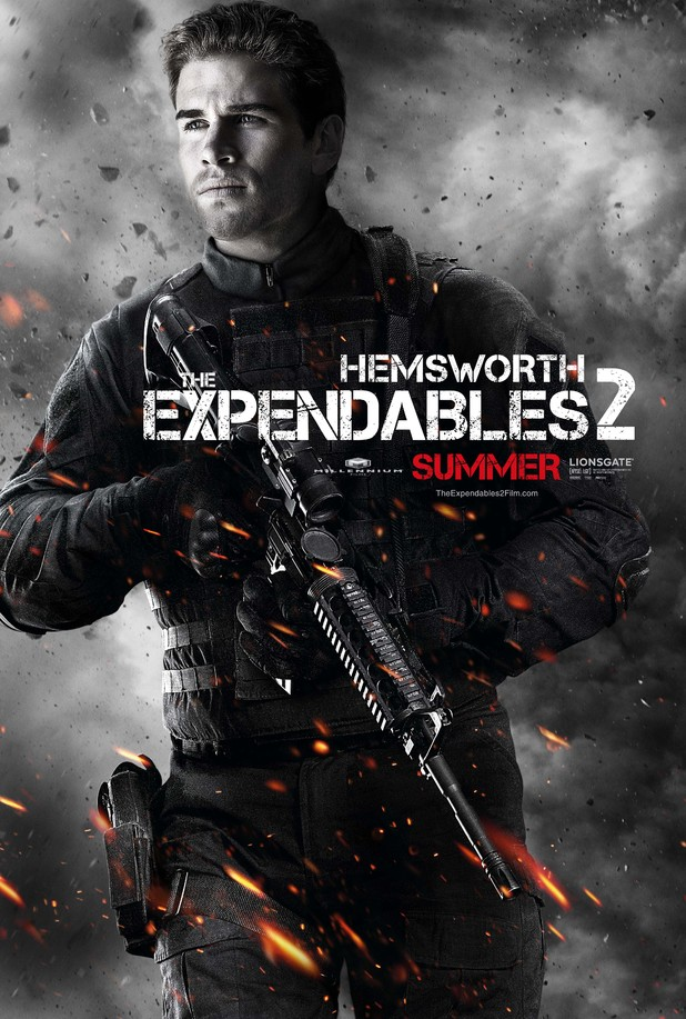 Liam Hemsworth Expendables 2 character poster
