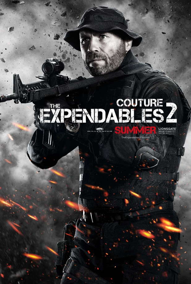 Randy Couture Expendables 2 character poster
