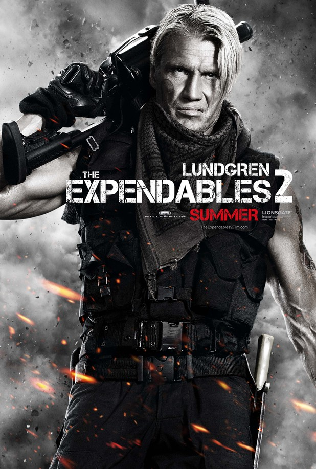 Dolph Lundgren Expendables 2 character poster