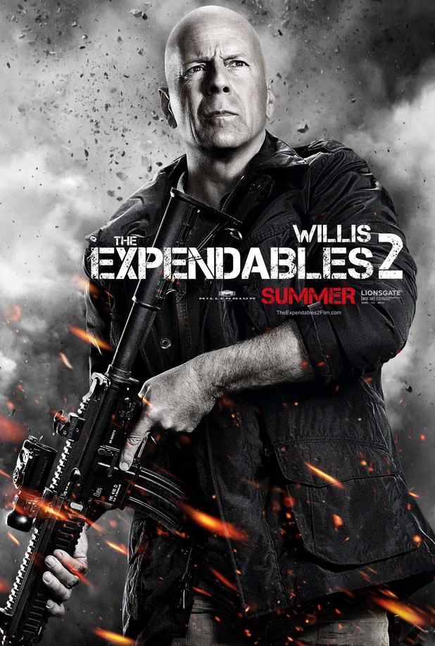 Bruce Willis Expendables 2 character poster
