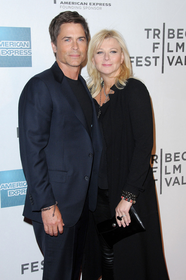 Rob Lowe and Sheryl Berkoff, 2012 Tribeca Film Festival - 'Knife Fight' premiere - Arrivals New York City