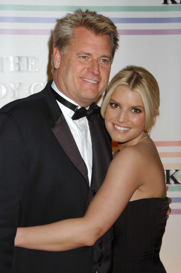 Jessica and father Joe Simpson