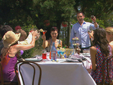 Friends and family celebrate Sasha's birthday.