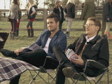 Spencer Matthews and Oliver Proudlock at a point to point seen on  'Made In Chelsea', shown on E4