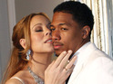 "Nick Cannon insists that his wife has had ""a great time"" on American Idol."