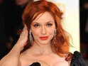 Christina Hendricks also says Joan is brave for splitting from her abusive husband.