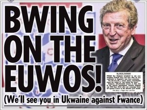 The Sun Roy Hodgson front page (Wed 02/05/12)
