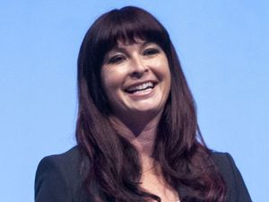 Suzi Perry at the Samsung Galaxy 3 Mobile Phone launch at Earls Court Exhibition Center, London