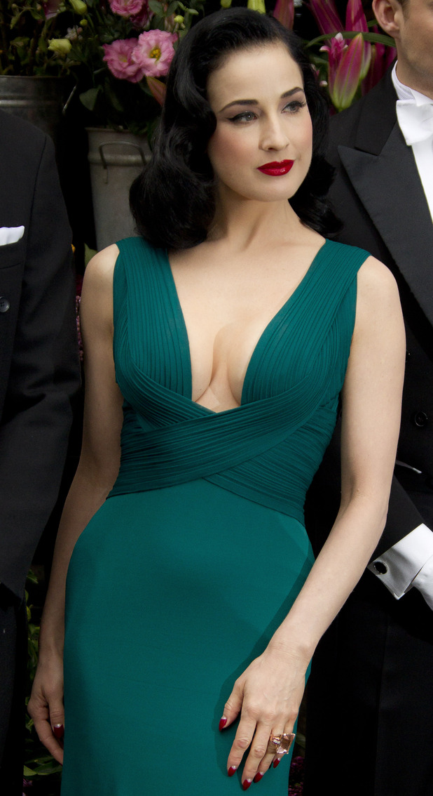 Dita Von Teese during her perfume launch at Liberty in London - May 1, 2012