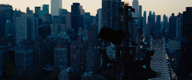 Batman on the rooftops