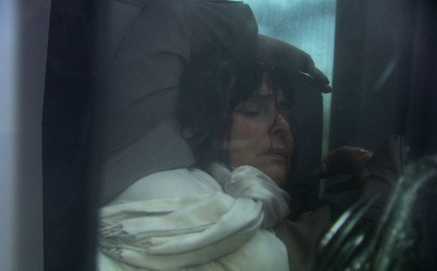 Julia Parsons (Diane Keen) in a car accident.