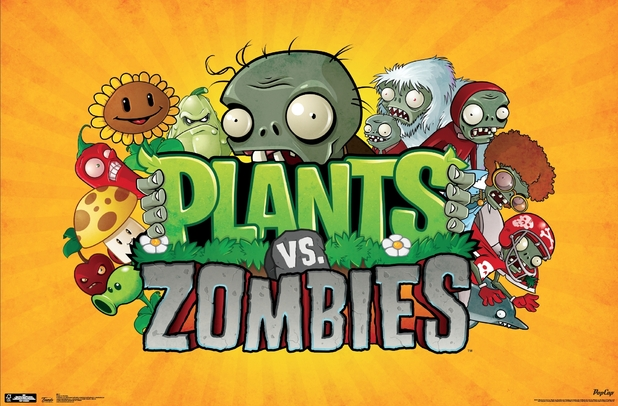 Previous next plants vs zombies merchandise logo poster from trends