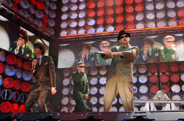 The Beastie Boys performing at the Live Earth concert, Wembley Stadium, London in 2007
