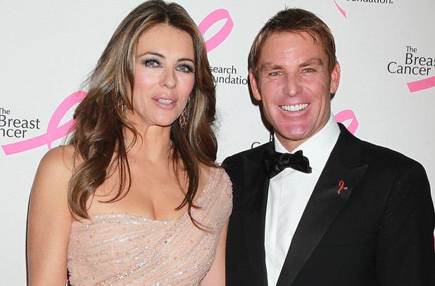 Elizabeth Hurley, Shane Warne, Breast Cancer Research Foundation Hot Pink Party