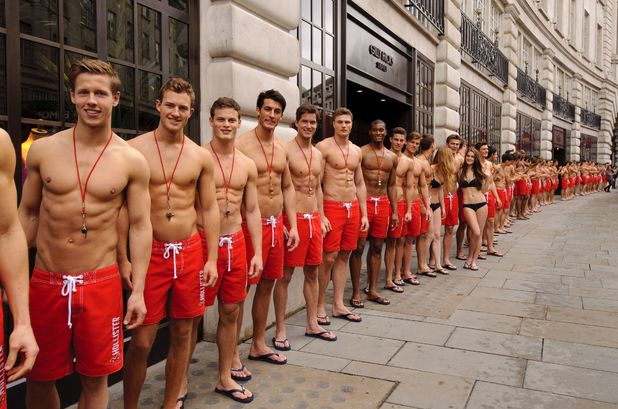 Lifeguards' in London to open the new Gilly Hicks and Hollister flagship store in Regent Street