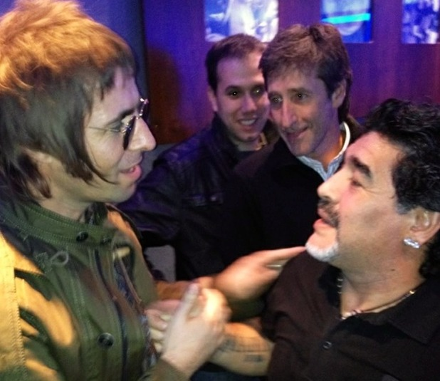 Liam Gallagher and Diego Maradona