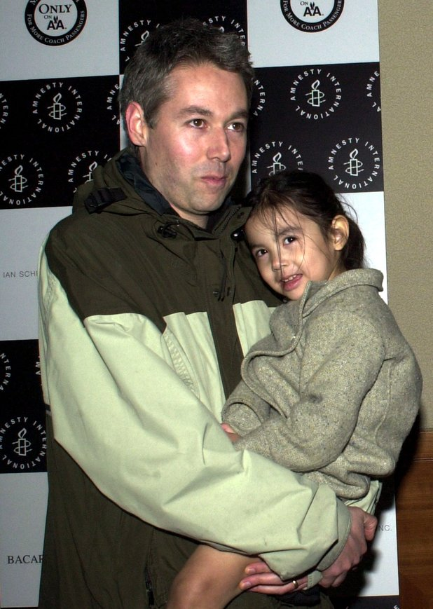 Adam Yauch with his daughter