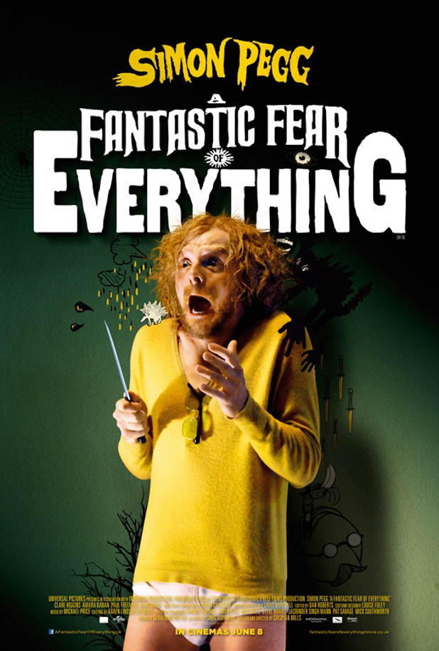 Simon Pegg 'A Fantastic Fear of Everything' poster