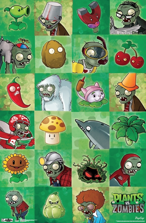 Plants Vs Zombies merchandise - Grid poster from Trends