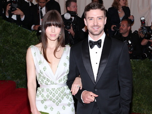 Justin Timberlake and Jessica Biel Schiaparelli and Prada 'Impossible Conversations' Costume Institute Gala at The Metropolitan Museum of Art New York City