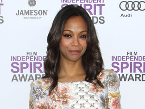 Zoe Saldana 27th Annual Independent Spirit Awards- Arrivals- Santa Monica Beach Los Angeles