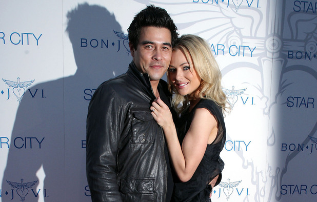 Australian actors James Stewart and Jessica Marais - December 2010