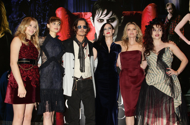 Chloe Moretz, Bella Heathcote, Johnny Depp, Eva Green, Michelle Pfeiffer and Helena Bonham Carter