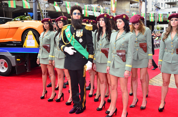 'The Dictator' World Premiere at the Royal Festival Hall, London: Sacha Baron Cohen aka Admiral General Aladeen