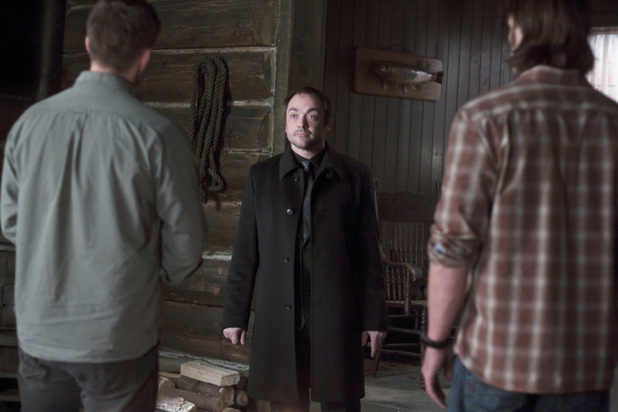 Dean, Crowley and Sam