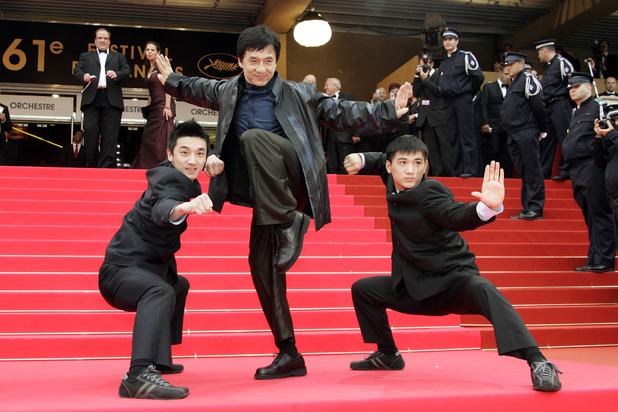 Liu Fengchao, Executive Producer Jackie Chan and Actor Wang Wenjie